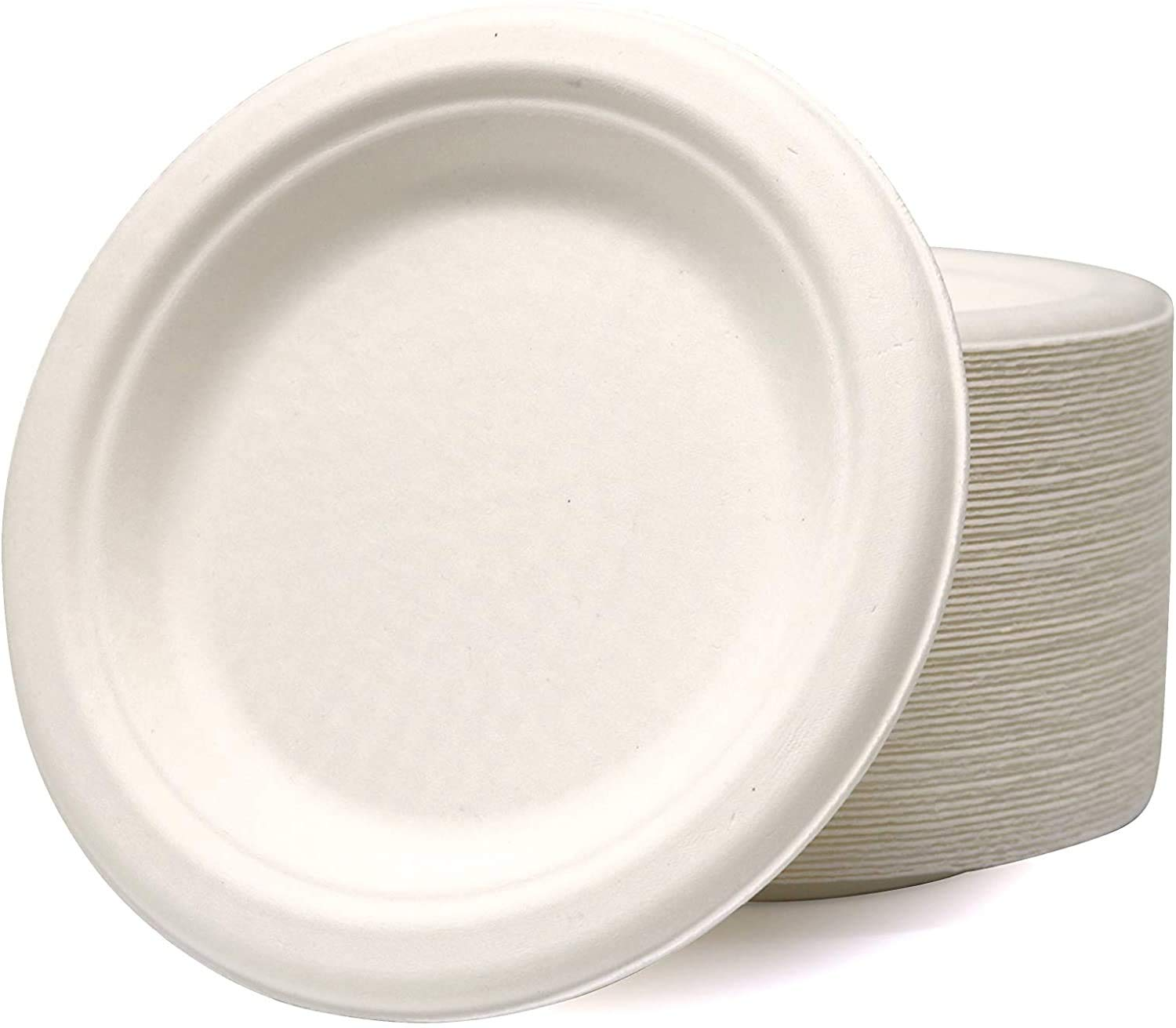 Biodegradable and compostable 6 inch Heavy Duty Disposable Plates for Party(25 Psc)