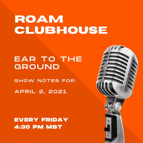 Ear to the Ground Show Notes 4/2