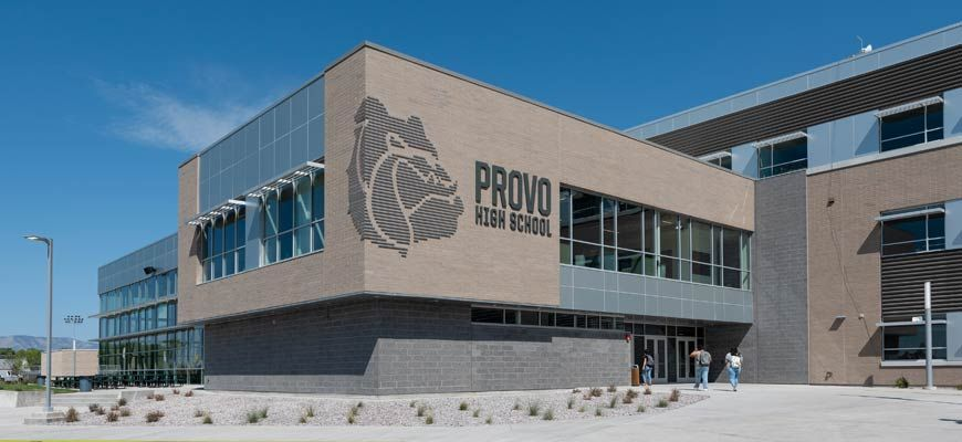 Newly constructed high school using steel building systems