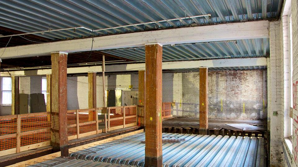 Deep-Dek® on wood beams original beams supporting steel deck