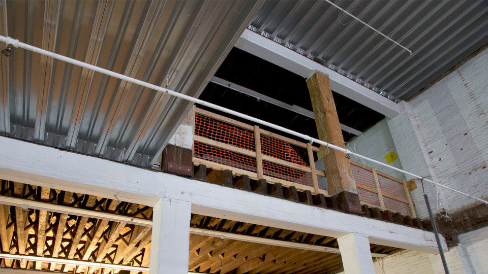 Deep-Dek® Original wood joists being replaced