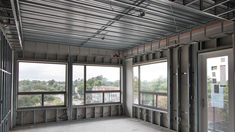 Open-span construction using Versa-Dek composite