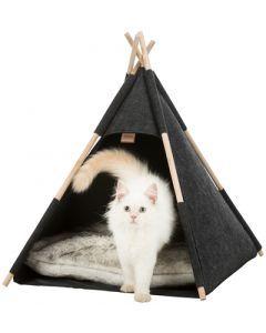 Trixie Kattenmand Tipi Vilt Antraciet 55x55x65 Cm