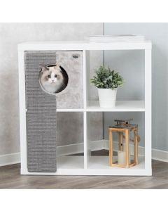Trixie Kattenmand Voor Kasten Met Krabplank Grijs 33x37x70 Cm