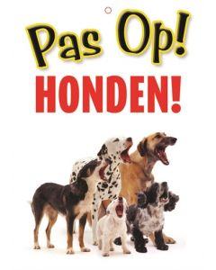 Waakbord Nederlands Kunststof Honden 21x15 Cm