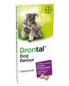 Bayer Drontal Tasty Ontworming Hond 6 Tabletten