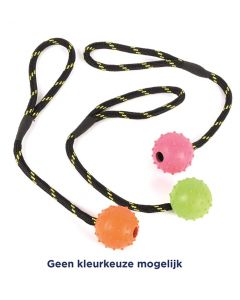 Happy Pet Tough Toys Rubber Bal Aan Werptouw Large 22x6x6 Cm