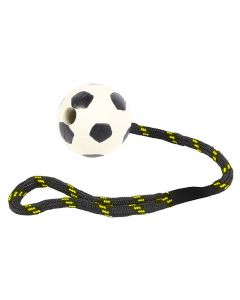 Happy Pet Tough Toys Werptouw Met Rubber Voetbal 37,5x6,5x6,5 Cm