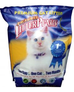 Crystal Clear Litter Pearls Tracksless 8 Lbs 3,6 Kg (verpakt per 4)