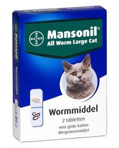 Mansonil Grote Kat All Worm Tabletten 2 St