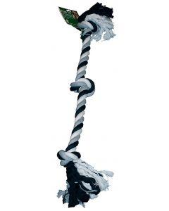 Floss-toy 3-knoop Zwart/wit Gigant