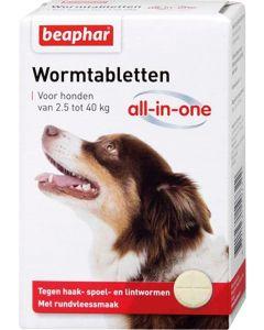 Beaphar Wormtablet All-in-one Hond 2,5-40 Kg 4 Tbl