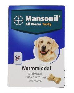 Mansonil Hond All Worm Tasty Tabletten 2 St