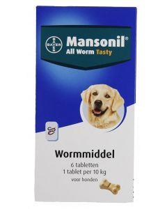 Mansonil Hond All Worm Tabletten 6 St