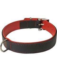 Hondenhalsband Soft Gevoerd Zwart / Rood