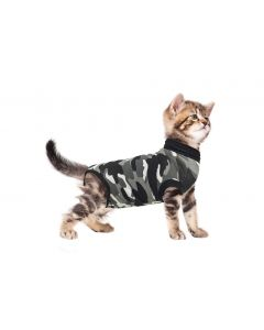 Suitical Recovery Suit Kat Zwart Camouflage S 43-51 Cm
