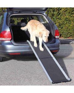 Trixie Loopplank Petwalk Inklapbaar Zwart / Grijs 38x155 Cm