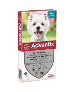 Bayer Advantix Spot On 100/500 4-10 Kg - 6 Pip