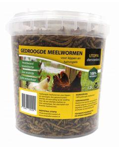 Gedroogde Meelwormen 1,2 Ltr