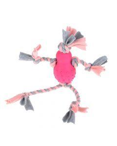 Little Rascals Flostouw Pop Met Fleece Roze 35x10x7 Cm