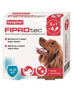 Beaphar Fiprotec Hond Tegen Teken En Vlooien 10-20 Kg 3+1 Pip