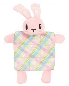 Zolux Puppyspeelgoed Konijn Plush Plaid Crinklestof Roze 17,5x3x20 Cm