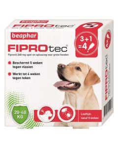 Beaphar Fiprotec Hond Tegen Teken En Vlooien 20-40 Kg 3+1 Pip