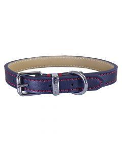 Rosewood Halsband Hond Leer Donkerblauw 25-35,5 Cm