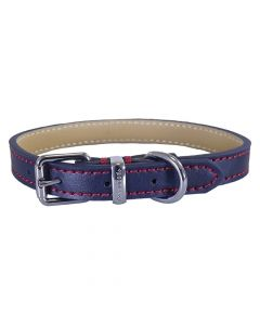 Rosewood Halsband Hond Leer Donkerblauw 35,5-45,5 Cm