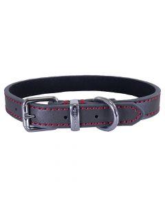 Rosewood Halsband Hond Leer Donkergrijs 56-66 Cm