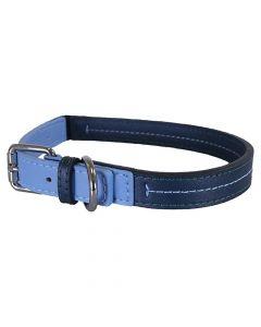 Rosewood Halsband Hond Leer Babyblauw / Donkerblauw 25-35,5 Cm