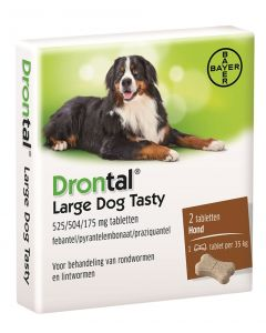 Bayer Drontal Ontworming Hond L Tasty 2 Tabletten