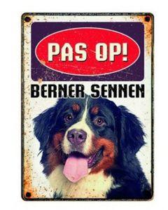Plenty Gifts Waakbord Blik Berner Sennen 15x21 Cm