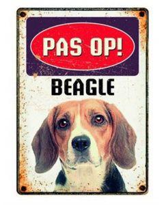 Plenty Gifts Waakbord Blik Beagle 15x21 Cm