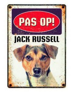 Plenty Gifts Waakbord Blik Jack Russell 15x21 Cm