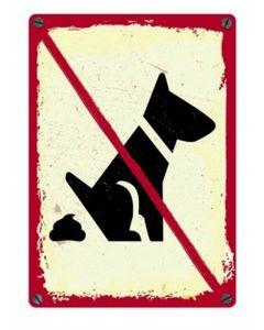Plenty Gifts Waakbord Blik No Dogs 15x21 Cm