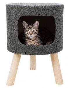 Trixie Kattenmand Poef Senta Vilt Antraciet 38x38x50 Cm