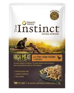 True Instinct Pouch High Meat Adult Chicken Fillets 70 Gr