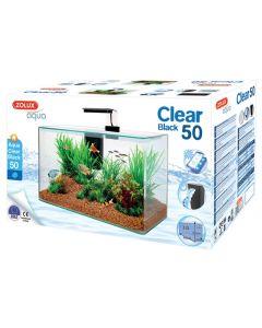 Zolux Aquarium Clear Kit Zwart 32 Ltr 50x25x38 Cm