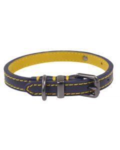 Joules Halsband Hond Leer Navy 56-66x3,8 Cm