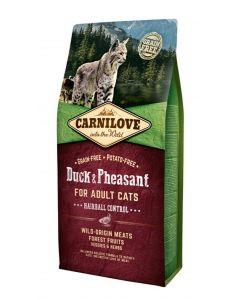 Carnilove Duck / Pheasant Hairball 6 Kg
