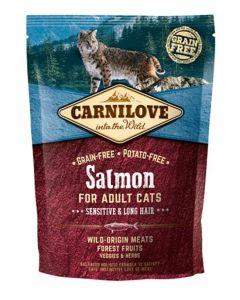Carnilove Salmon Sensitive / Long Hair 400 Gr