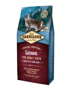 Carnilove Salmon Sensitive / Long Hair 6 Kg