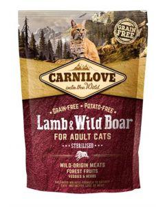 Carnilove Lamb / Wild Boar Sterilised 400 Gr