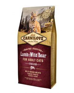 Carnilove Lamb / Wild Boar Sterilised 6 Kg