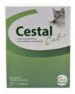 Ceva Cestal Cat 80/20 Mg Kauwtabletten 2 Tbl