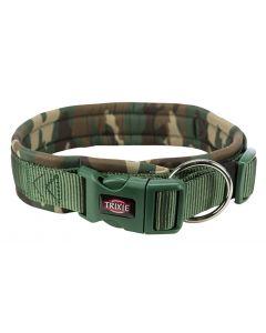 Trixie Premium Halsband Hond Neopreen Camouflage Groen 49-55x2,5 Cm