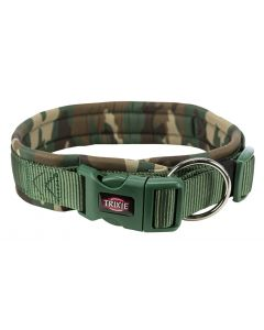 Trixie Premium Halsband Hond Neopreen Camouflage Groen 56-62x2,5 Cm