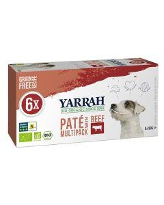 Yarrah Dog Alu Pate Multipack Beef/chick 6x150 Gr