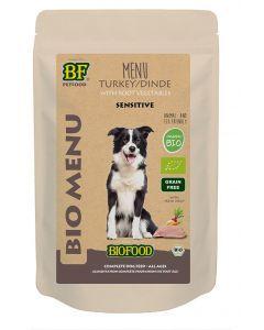 Biofood Organic Hond Kalkoen Menu Pouch 150 Gr (verpakt per 15)